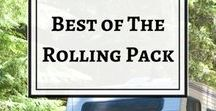 Best of The Rolling Pack / Full time travel in a 1989 Toyota Dolphin. Camper life, RV life, vanlife, van life. Travel with dogs. Dog training. Bucket list destinations. Burning Man preparation. Burning Man culture. Hippie culture. Hippie life. Simple Living. DIY RV renovation. Couples travel. Full time RV living. Travel Inspiration.