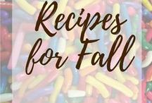 Recipes for Fall / Recipes to make in the fall with lots of apples, cinnamon, and nutmeg!