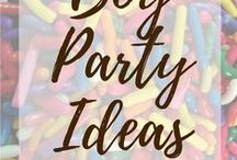 Boy Party Ideas / Party ideas for boys! From Nerf to Pirates and beyond!