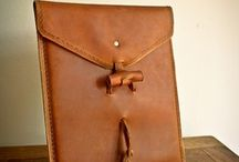 Leather ipad/Gadget/Tablet Cases / A folder of ideas for making your own gadget case from leather - come on a workshop with us or call with your idea and we will help you put together all you need