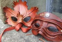 Making Leather Masks / With the wonderful properties of moulding and carving, leather has been used in mask making for centuries - a look at some old and new, some fantasy, some steampunk.. for information on making masks contact us at sales@theidentitystore.co.uk