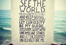 Travel Quotes to Live By / Inspiring travel quotes