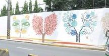 BOYSEN KNOxOUT Project: EDSA - Buendia and Estrella Artwork by TBWA / Fifth air cleaning artwork located along Rockwell Wall between Buendia and Estrella. Tree Lungs whereby each tree painted literally cleans the air, making individuals and their lungs breathe easy - thus, the resemblance of the shapes of the trees to the respiratory organ.