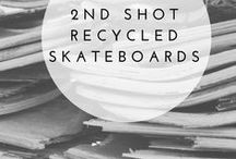2nd Shot - Recycled Skateboards / Hand crafted Watches and Art made from recycled skateboard