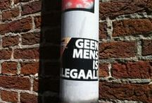 Stickers, Dutch street art and so on / Stickers found by myself in the streets of Holland & on holiday, on lamp posts, traffic lights, walls, etcetera