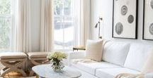 Just About White / Explore the use of White and its various hues and shades in the different parts of your home.