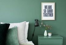 Just About Green / Explore the use of Green and its various hues and shades in the different parts of your home.