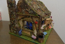 fairy houses & fairy furniture / I use lots of natural material but I need to use plenty of fairy dust.