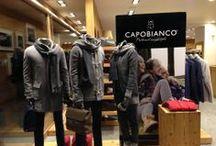 Le Vetrine CAPOBIANCO / Le vetrine delle boutiques nelle quali è possibile trovare i prodotti CAPOBIANCO