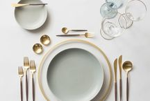 Wedding table dinnerware / Charger plates, napkins, glassware and everything in between to brighten up your wedding tables!