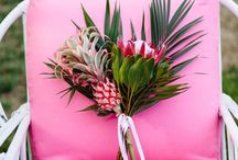 Vibrant tropical colour moodboard / Inspiration for adding some bold color into your wedding. Fun and modern ideas and styling inspiration for your wedding or event.