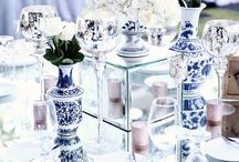 Unique wedding colour palette of blue and white / We just love this unusual colour palette for a wedding. The crisp freshness and contrast in colour is beautiful! We hope to work with these colours very soon!