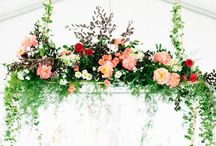 Feature florals and displays / Inspiration for decorating your venue. Hanging flowers and features just give the wow factor and add an amazing touch to your wedding