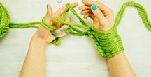 Arm knitting / Learn to Knit without needles.   Patterns, instructions, videos...