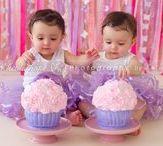 Twin - cake smash / photography twins 1st birthday
