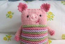 knitting animal and toys