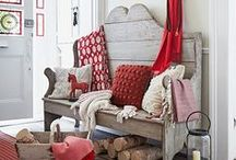 Red Interiors and Accents / Color red makes a great accent hue for neutral or cottage style interiors but it can also make a bold statement in more modern home decor.