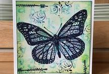 Card with butterflys