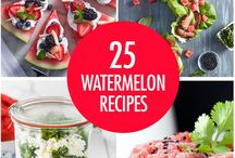 Watermelon Recipes / Watermelon - the perfect summer fruit.  Recipes for salads, drinks, desserts and more.  This board is for FBC Members only - limit your pins to 2/day. For an invite, contact melissa@foodbloggersofcanada.com