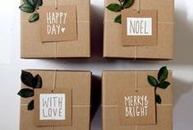 Natural Gift Wrap / Natural, rustic & Eco-friendly gift wrapping ideas!