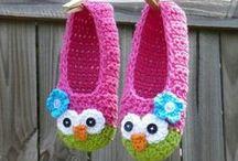 crochet slippers and soks