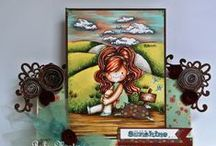 LDRS 2013 Lisbeth Rubber Stamp Collection / This board features Design Team Inspiration projects using the MilkCoffee Lisbeth rubber stamp images sold at Little Darlings Rubber Stamp Store here: http://littledarlingsrubberstamps.com/
