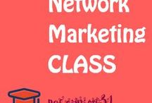 Network Marketing Class / MLM Multi Level Marketing Ideas! Interesting and helpful articles and tools.