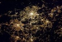 Cities from Space / These images came from the International Space Station as it orbits the Earth. Most of them show the night-time lighting of the cities.