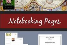 Notebooking / All about using notebooking in your homeschool. How, why, and of course, printable notebooking pages for any subject!