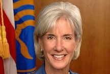 Kathleen Gilligan Sebelius  / Now that some active aging! Kathleen Sebelieus age 65 testifying before Congress. Profile of a Baby Boomer.