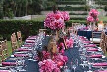 Blue & Pink Wedding