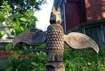 Totem Poles / Hand carved totem poles by Totem Gord Wood Carving and other selected totem poles. / by Totem Gord Wood Carving