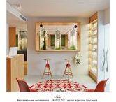 """салон красоты """"Брусника"""", визуализации / Визуализации, созданные на основе: заполненного опросного листа, плана зонирования, concept-board`а, отобранных 3D моделей и преференций по материалам."""