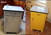 DIY Furniture Makeover / Take finds from our thrift store and turn them into masterpieces! Or just learn to restore them back to original quality.