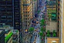 Street style  / city shots, busy streets, New York, yellow taxis
