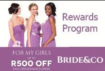 Bride&co Rewards / We want you to 'share the love' on your wedding day, so Bride&Co is offering its customers a range of incredible rewards, brimming with all sorts of savings for your whole bridal party.