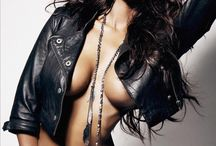 Leather jacket bare