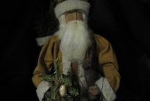 Primitive Folk Art * Santa's and Originals by Sue Corlett ~1897 House / by Folk Artist Sue Corlett