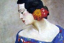 Women  in artworks