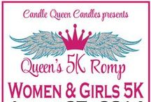 Queen's 5K Romp / Candle Queen Candles annual fundraiser!  A 5K Run with Fun for Women and Girls~with Pink Tees, Tiaras, and Medals.  A Fabulous day filled with women uplifting women and having fun raising money for a great cause!