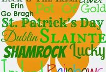St. Patrick's Day / St. Patrick's Day is March 17 / by Angela Kinder