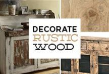 Rustic & Reclaimed Wood / Pieces from our huge reclaimed wood selection