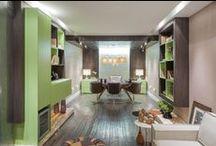 Office / Além de pensar em soluções para o mobiliário residencial, a S.C.A. também trabalha em ambientes corporativos, como por exemplo, Home Offices.