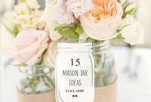 Mason Jars Wedding decor / Mason Jars are a popular #DIY wedding project staple! See gorgeous #masonjar #wedding DIY inspiration here!
