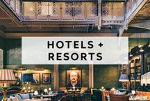 HOTELS + RESORTS / Event venues around the world that are ideal for hosting weddings, social events, parties, elopements and more!