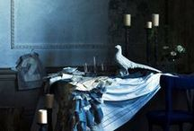 shades of blue / One colour in all the beautiful shades, interiors and designs