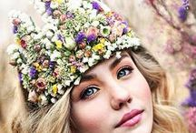 Flower crown.Broches.Flowers