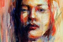 Nina Smart - art / My portfolio of portraits, figurative works & equine art. All hand-painted, one of a kind paintings in watercolor, acrylic and oil paints.  www.ninasmart.com