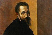 Michelangelo Buonarroti / Michelangelo Buonarroti (Caprese, 6 marzo 1475 – Roma, 18 febbraio 1564) scultore, pittore, architetto e poeta italiano. Protagonista del Rinascimento italiano, fu riconosciuto già al suo tempo come uno dei maggiori artisti di sempre.