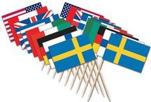 World Toothpick Flags / Dress up any party table with Toothpick Flags of any country in the World.